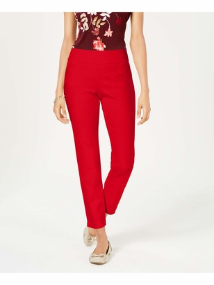 Charter Club Womens Red Skinny Pants Petites Size: 2P