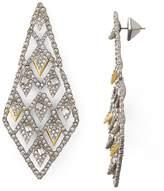 Alexis Bittar Spiked Lattice Dangling Drop Earrings