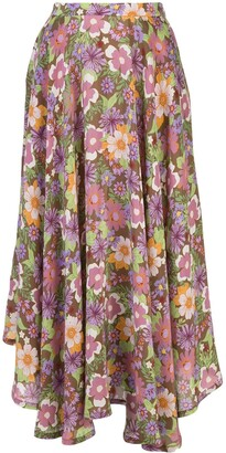 Riviera Lhd French floral-print skirt