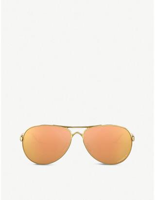 Oakley OO4079 Feedback C-5 alloy frame and polarised lenses sunglasses