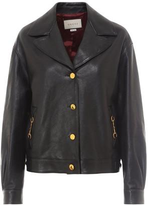 Gucci Horsebit Leather Jacket