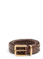 Brunello Cucinelli Woven-leather belt