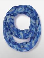 Calvin Klein Lurex Wave Print Infinity Scarf