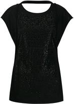Diesel round neck crystal-embellished T-shirt