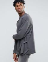 Asos Oversized Sweatshirt With Side Taping