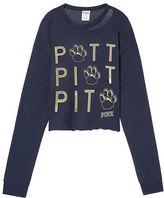 PINK University Of Pittsburgh Long Sleeve Campus Cutout Tee
