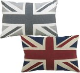 B. Smith The Vintage House by Park Union Jack Tapestry Oblong Throw Pillow