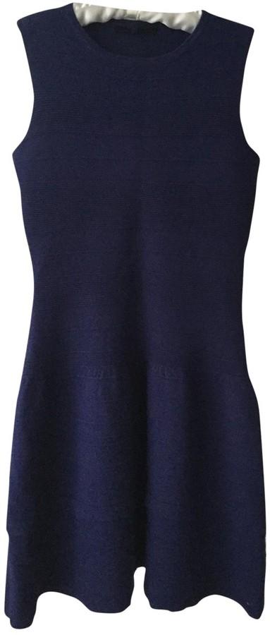 Maje Blue Wool Dresses