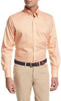 Peter Millar Crown Finish Gingham Sport Shirt, Orange