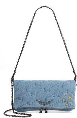 Zadig & Voltaire Small Rocky Quilted Denim Shoulder Bag