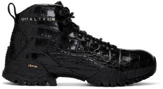 Alyx Black Croc Hiking Boots