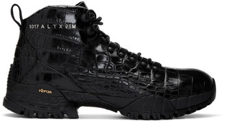 Alyx Black Croc Hiking Boots