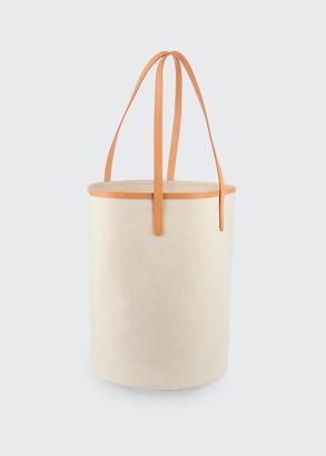 Mansur Gavriel Italian Canvas Circle Bucket Bag