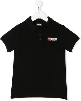 Diesel Logo cotton-piquet polo shirt