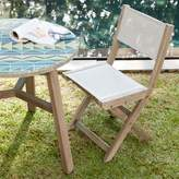 west elm Portside Outdoor Folding Textilene Bistro Chair - Weathered Gray