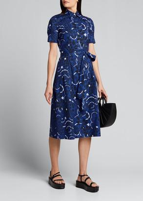 Carolina Herrera Floral Print Belted Shirtdress