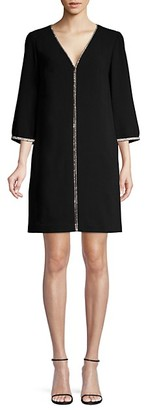 Trina Turk Rhinestone Embellished Shift Dress