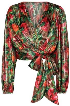 Dolce & Gabbana Exclusive to Mytheresa Pomegranate-print silk-blend top