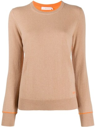 Tory Burch Contrast-Trimmed Cashmere Jumper