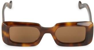 Loewe 50MM Rectangular Havana Sunglasses