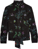 Iris and Ink Floral-print silk-georgette blouse