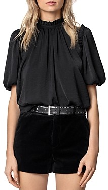Zadig & Voltaire Tattoo Low-Back Satin Top
