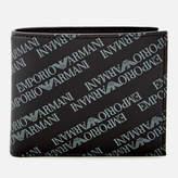 Emporio Armani Men's Small BiFold Coin Wallet - Lavagna/Nero