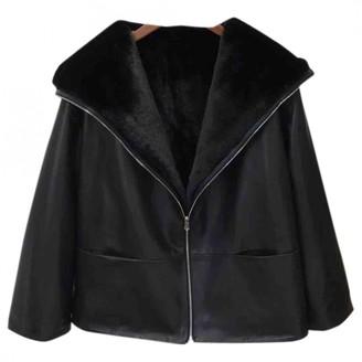 Totême Black Mongolian Lamb Leather jackets