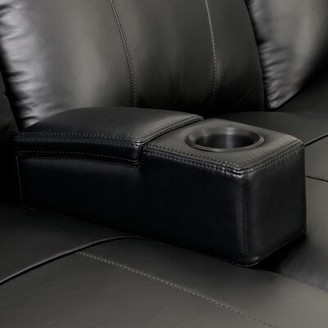 Ebern Designs Removable Leather Home Theater Storage Arm Ebern Designs