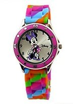 Disney Girl's MN1109 Minnie Mouse Multi-Colored Watch with Rubber Band