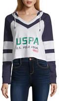 U.S. Polo Assn. Juniors Womens Long Sleeve French Terry Hoodie