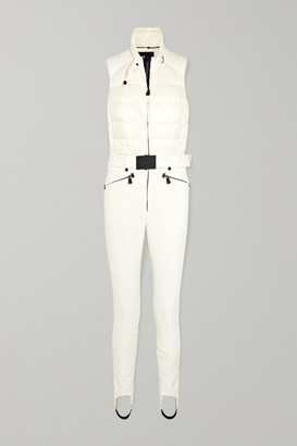 MONCLER GRENOBLE Belted Quilted Ski Suit - White