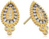Freida Rothman Gold-Plated Cubic Zirconia Small Stud Earrings