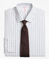 Brooks Brothers Madison Classic-Fit Dress Shirt, Non-Iron Hairline Framed Stripe