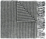 A.P.C. dogtooth fringed scarf
