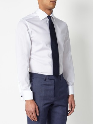 John Lewis & Partners Non Iron Twill Double Cuff Slim Fit Shirt