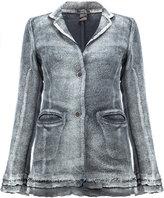 Avant Toi burnout buttoned jacket - women - Cotton/Hemp/Linen/Flax/Polyamide - M