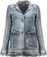 Avant Toi burnout buttoned jacket - women - Cotton/Hemp/Linen/Flax/Polyamide - S