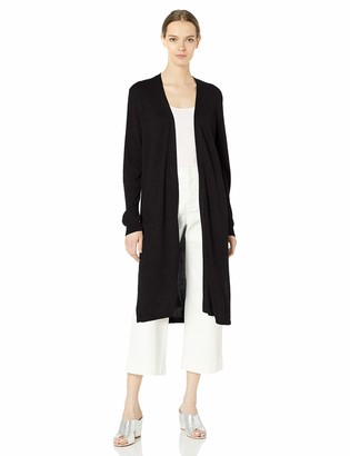 Vince Camuto Women's Long Sleeve Open Front Textured Long Cardigan