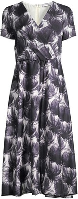 Max Mara Unico Abstract Floral Jersey Dress