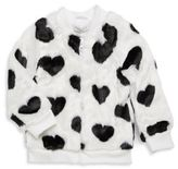 Pinc Premium Faux Fur Heart Jacket