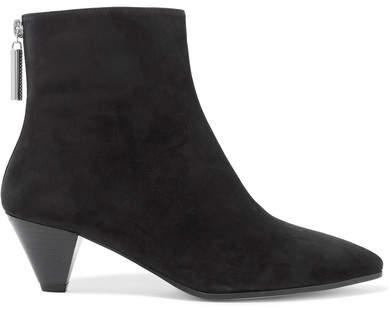 Stuart Weitzman Pyramid Suede Ankle Boots - Black