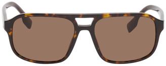 Burberry Tortoiseshell Acetate Frame Sunglasses