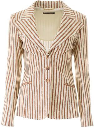 Alberta Ferretti Striped Blazer