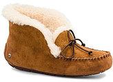 UGG Alena Bow Detail Waterproof Suede Slippers