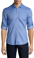 Scotch & Soda Contrast Cuff Long Sleeve Sportshirt
