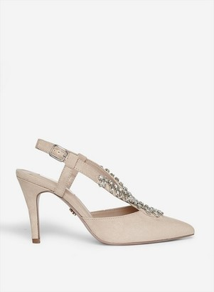 Dorothy Perkins Womens Showcase Wide Fit Nude 'Gemini' Slingback Court Shoes