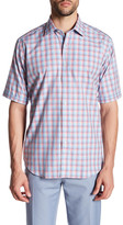 Bugatchi Classic Fit Short Sleeve Sport Shirt