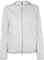 Emporio Armani cut-out detail hooded jacket - women - Polyester - 38