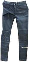 Burberry Grey Leather Trousers